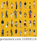 Diverse of People Enjoy Music Lifestyle Studio Isolated 31609114