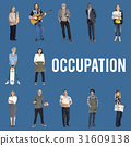 Diverse Occupation Job Career Business People Studio Isolated 31609138