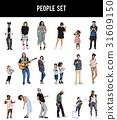 Diverse of People Enjoy Music Lifestyle Studio Isolated 31609150