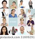 Senior Adult Enjoying Retirement Life Studio Portrait Collage 31609291