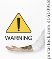 Warning Sign Caution Icon Word 31610958