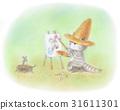 戴草帽的貓/畫家 31611301