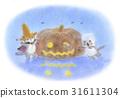 與草帽的一隻貓 - 萬聖夜 31611304