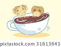 tooth in cup of coffee 31613643