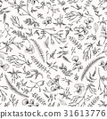 Floral seamless pattern with little plants. 31613776