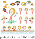 blond hair woman cooking 31613849
