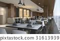 luxury hotel reception and lounge restaurant 31613939