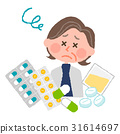 Elderly ladies who are tired of lots of medicine 31614697