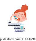 ผู้หญิงกำลังทานยา 31614698