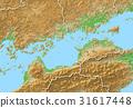 map, shikoku region, Chugoku region 31617448