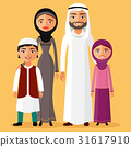 Arab family is happy together. Father, mother 31617910