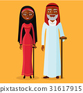 Vector of arab adult man and woman  vector 31617915