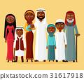 Arab family, muslim arab people, saudi cartoon man 31617918