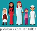 Arab Grandparents with grandchildren together flat 31618011