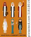 Saudi arab people characters set isolated vector  31618019