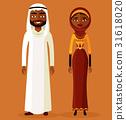arab, man, vector 31618020