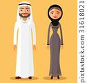 arab, couple, cartoon 31618021