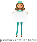 Doctor with whiteboard for presentation vector  31618740