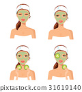 Skin care women concept. Facial mask  treatment  31619140