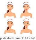 Women face spa concept set vector 31619141