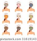 facial, female, mask 31619143