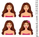 Set of woman portraits.Beauty. Set of girls faces 31619231