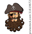 Pirate face vector isolated on a white background. 31619672