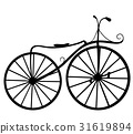 bicycle, silhouette, illustration 31619894
