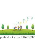 ภาพวาดมือ ครอบครัว,ยามว่าง,กลางแจ้ง 31620097