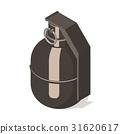 grenade, hand, icon 31620617