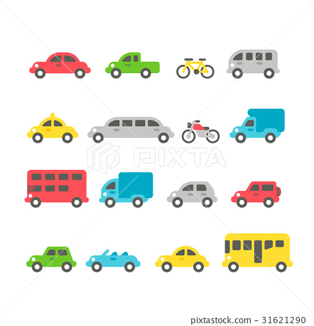 Flat design car set 31621290