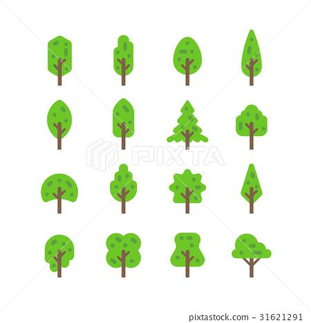 Flat design tree set 31621291