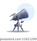 Vector cartoon telescope 31621299