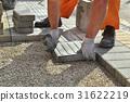Construction site, brick paver 31622219