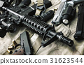 Weapons and military equipment for army. 31623544