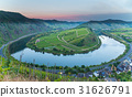 Moselschleife at Bremm at sunset panorama 31626791