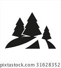 Simple minimal black tree icon symbol style 31628352