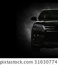SUV Car on Black Background with Smoke Effect 31630774