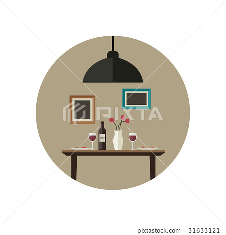 Dinner flat illustration 31633121