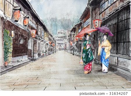 Kanazawa Tourism Kanazawa Higashi Chaya Street Sketch Picture 31634207