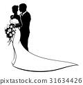 bride, wedding, and 31634426