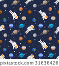 Vector seamless space pattern 31636426