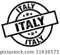 Italy black round grunge stamp 31636575