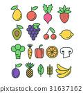 fruit, icon, vector 31637162
