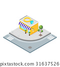 Isometric vector 3d illustration of jewelry store. 31637526