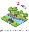 Vector isometric illustration of park. 31637788