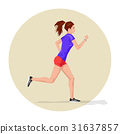 Active sporty young running woman athlete 31637857