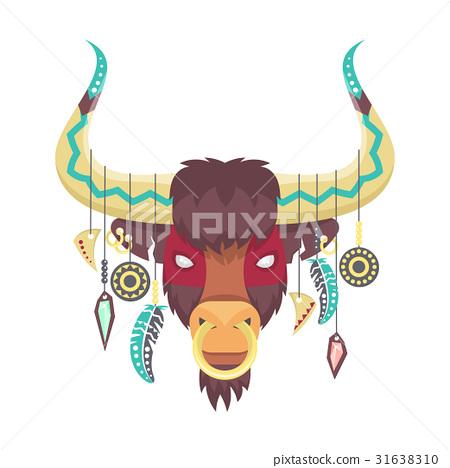 Vector illustration of bull  31638310