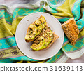 Avocado sandwich for healthy snack with seeds 31639143