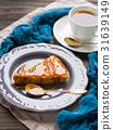 Chocolate cake with caramel 31639149